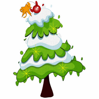 Christmas Tree Ornament Photo Cutouts