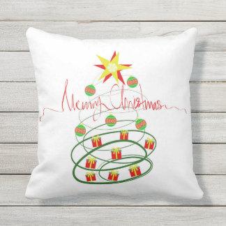 Christmas tree outdoor cushion