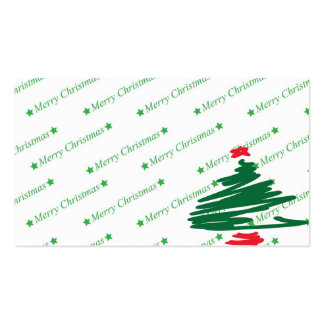 Christmas Tree Pack Of Standard Business Cards
