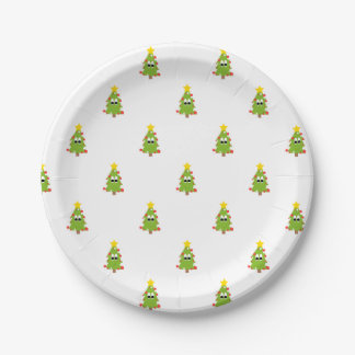Christmas Tree Paper Plate