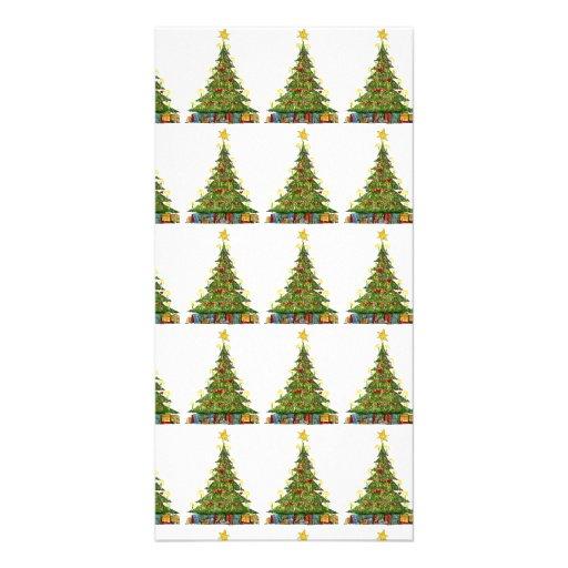 Christmas Tree Pattern 2 Customized Photo Card