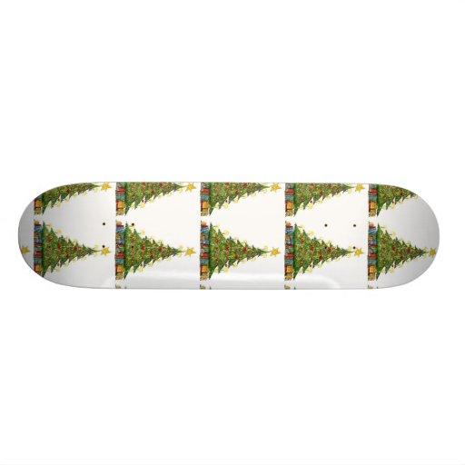 Christmas Tree Pattern 2 Skate Decks