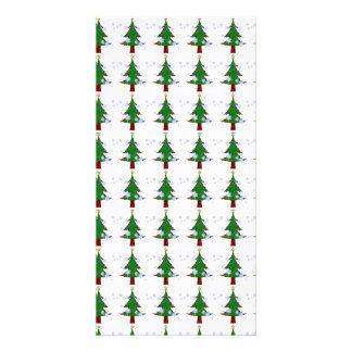 Christmas Tree Pattern 3 Customized Photo Card