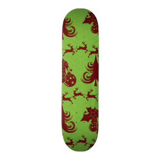 Christmas Tree Pattern Holly Ornaments Reindeer 18.1 Cm Old School Skateboard Deck