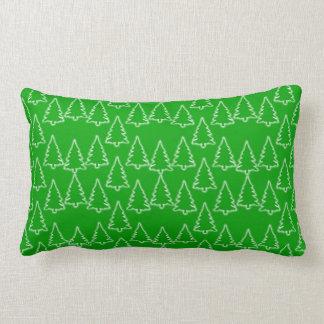 Christmas Tree pattern lumbar pillow