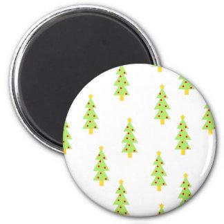 christmas tree pattern mid century modern vintage magnet