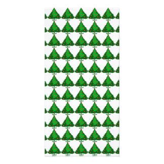 Christmas Tree Pattern Customized Photo Card