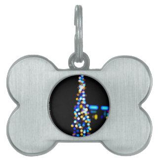 Christmas Tree Pet Name Tag