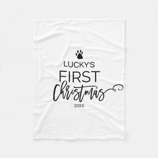 Christmas Tree Pet's First Christmas Fleece Blanket