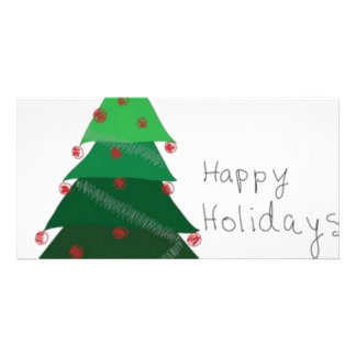 christmas tree personalized photo card