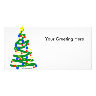 Christmas Tree Custom Photo Card