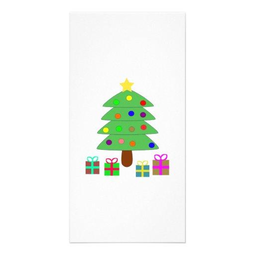 Christmas Tree Photo Card Template