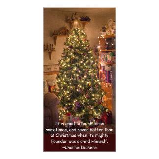 Christmas Tree Photo Greeting Card