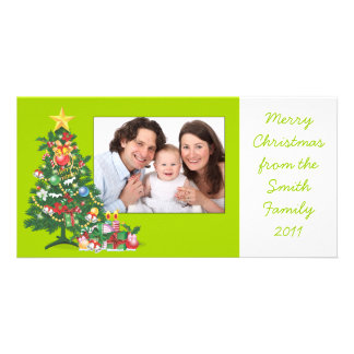 Christmas Tree/Photo Customized Photo Card