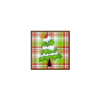 Christmas Tree Photo Sculpture Badge