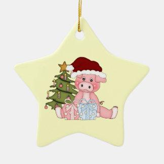 Christmas Tree Piggy Ornament