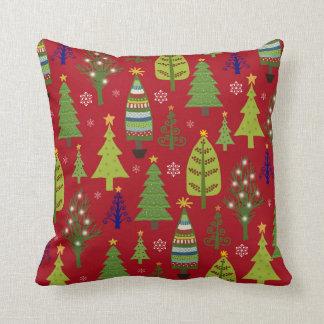 Christmas tree pillow