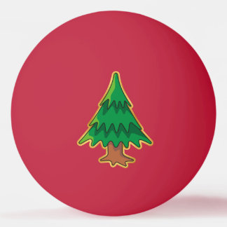 Christmas tree ping pong ball