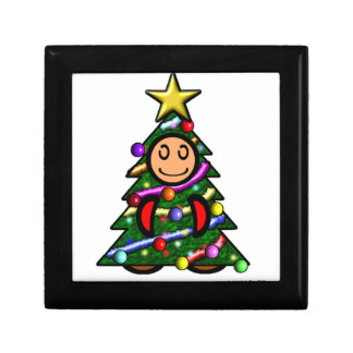 Christmas Tree (plain) Small Square Gift Box