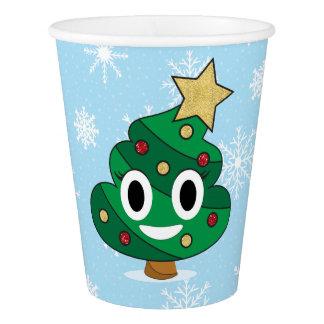Christmas Tree Poop Emoji Paper Cups