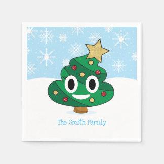 Christmas Tree Poop Emoji Party Napkins Disposable Napkins
