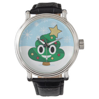 Christmas Tree Poop Emoji Watch