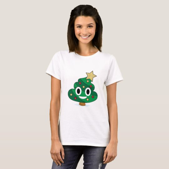 Christmas Tree Poop Emoji Women's T-Shirt