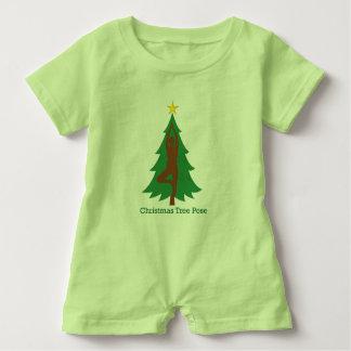 """Christmas Tree Pose"" baby romper Baby Bodysuit"