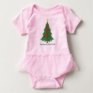 """Christmas Tree Pose"" baby romper with tutu Baby Bodysuit"