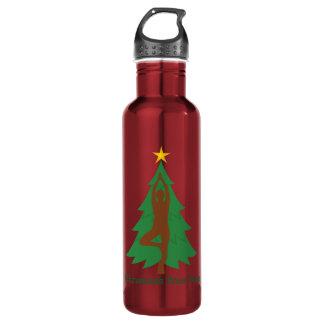 """Christmas Tree Pose"" water bottle 710 Ml Water Bottle"