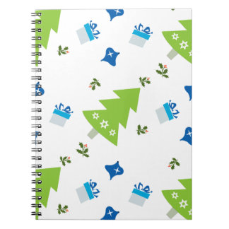 Christmas Tree Presents and Christmas Decorations Spiral Notebook