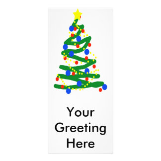 Christmas Tree Rack Card Template