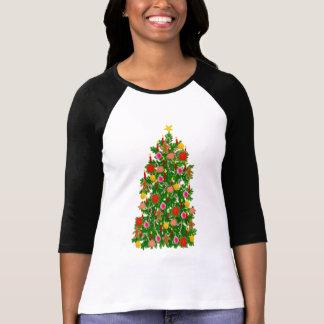 Christmas Tree Raglan Jersey T Shirt