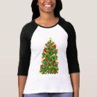 Christmas Tree Raglan Jersey T-Shirt