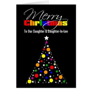 Christmas Tree Rainbow Card