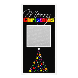 Christmas Tree Rainbow Picture Card