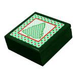 Christmas Tree: Red and Green Polka Dots Gift Box