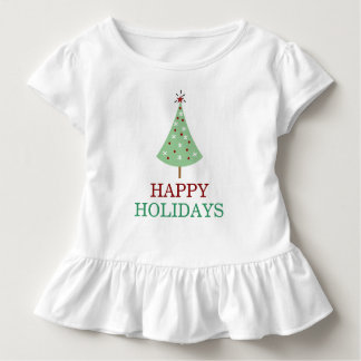 Christmas Tree Red Green Typography Holiday Shirt