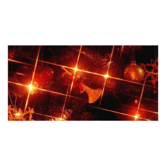 Christmas Tree Red Lights Customized Photo Card