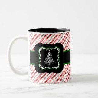 Christmas Tree Red Striped Mug