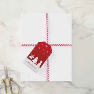 Christmas Tree Reindeer Snowman - Gift Tag