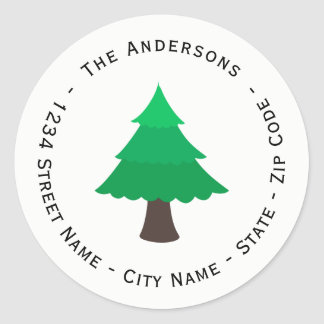 Christmas Tree Return Address Label