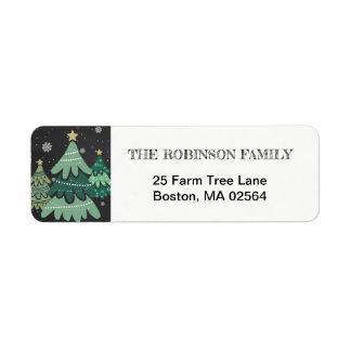Christmas Tree | Return Address Label