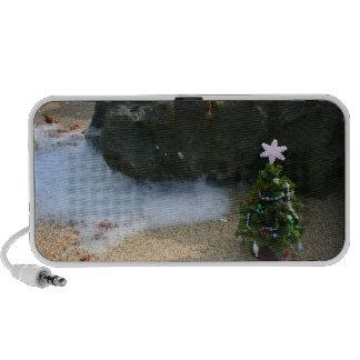 Christmas Tree Right Side Waves Rocks iPod Speakers