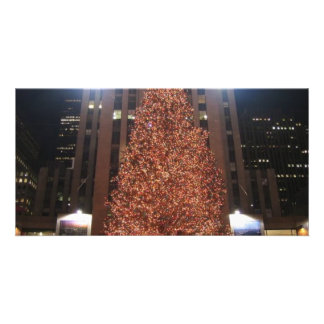 Christmas Tree Rockefeller Center Personalized Photo Card