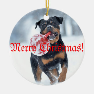 Christmas tree Rottweiler Christmas Ornament