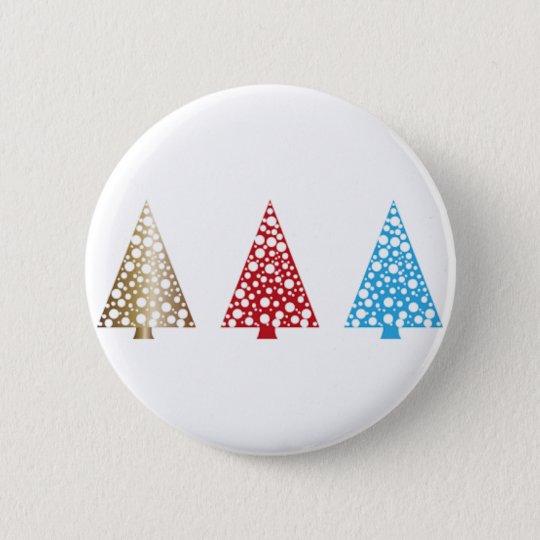 Christmas Tree Round Button
