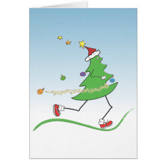 Christmas Tree Runner Cards with Greeting inside