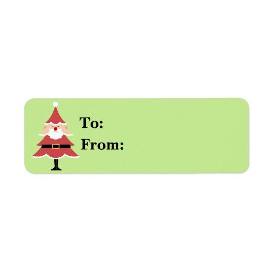 Christmas Tree Santa Gift Lables