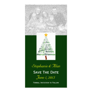 Christmas Tree Save The Date PhotoCards Personalized Photo Card